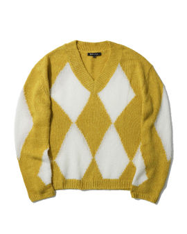 Diamond check sweater