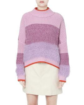 Colourblock knit sweater