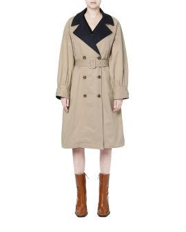 Panelled belted jacket