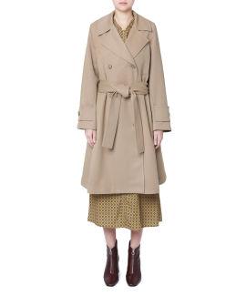 Self-tie trench coat