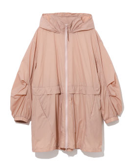 Hooded two-tone light jacket