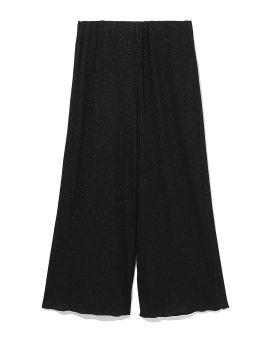 Metallic straight-fit pants