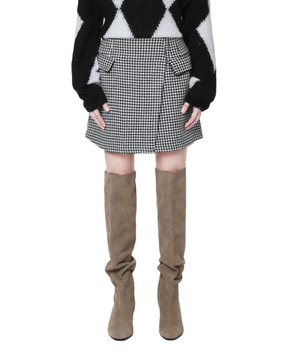 Wrap mini skirt image number 1