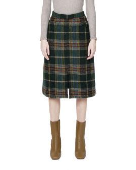 Plaid pattern skirt