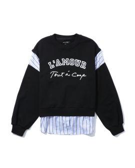 Stripe panel sweatshirt