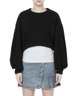 Tank top and cropped sweatshirt set