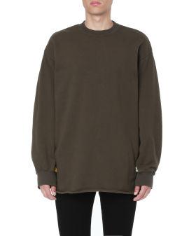 Sleeve panel sweatshirt