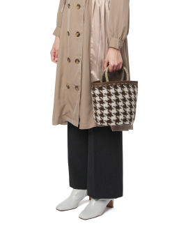 Houndstooth woven bag