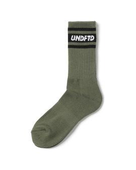 Logo striped crew socks