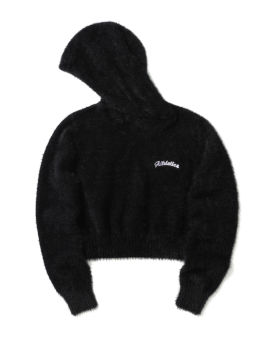 Faux fur embroidered hoodie