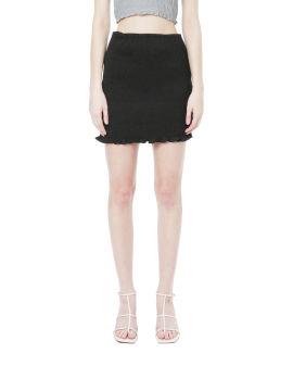 Shirred mini skirt