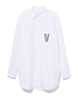 V logo poplin shirt