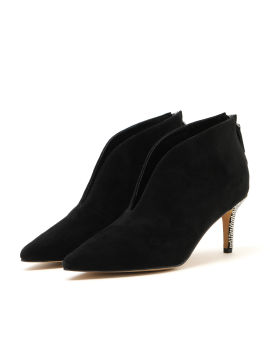 Strass embellished suede ankle boots