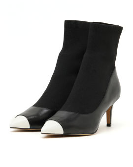 Panelled ankle boots