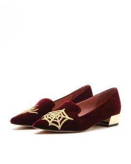 Spider embroidered loafers