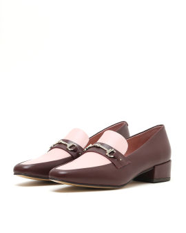 Two-tone embellished loafers
