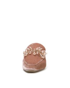 Beads embellished mules