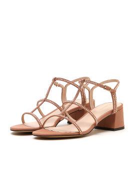 Strass embellished heeled sandals