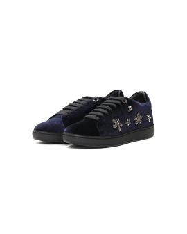 Rhinestone-embellished low-top sneakers