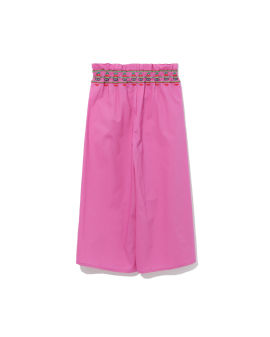 Graphic embroidered culottes