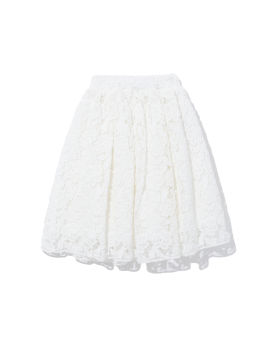 Floral lace embroidered skirt