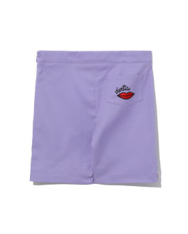 Lip embroidered skirt