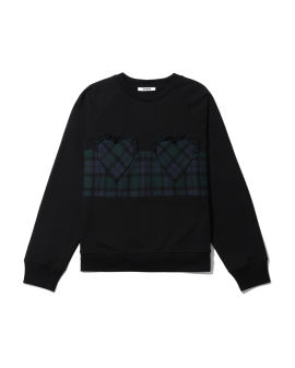 Check panel sweatshirt
