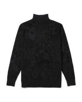 Intarsia knit tonal sweater