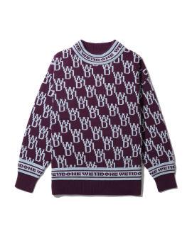 All-over logo knit sweatshirt