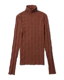 Patterned turtleneck sweater