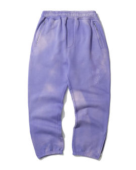 Logo embroidered washed sweatpants