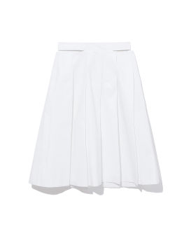 Cut-out pleated skirt