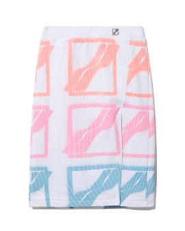 Logo print skirt