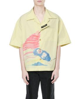 Graphic print boxy shirt