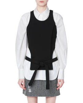 Cut-out belted top