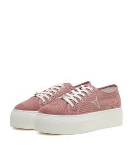Corduroy platform sneakers