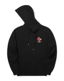 Graphic logo print hoodie