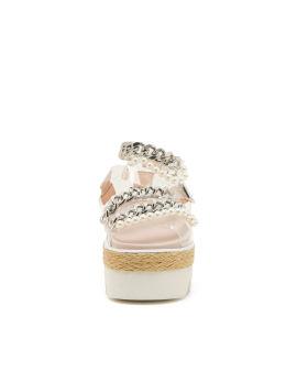 Chain embellished platform sandals