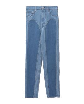 Bicolor denim jeans