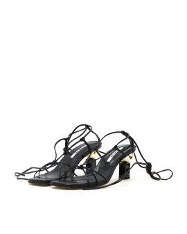 Trophy lace-up heels