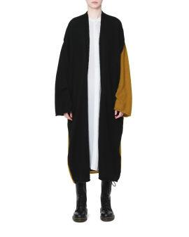 Panelled cardigan