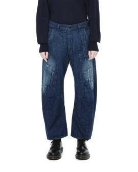 Patchwork denim jeans