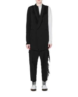 Knit detail vest