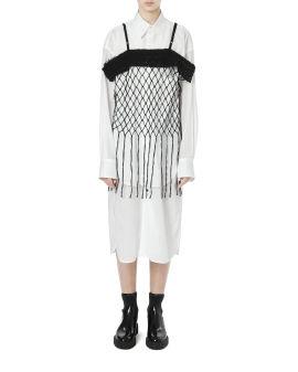 Fishnet vest top
