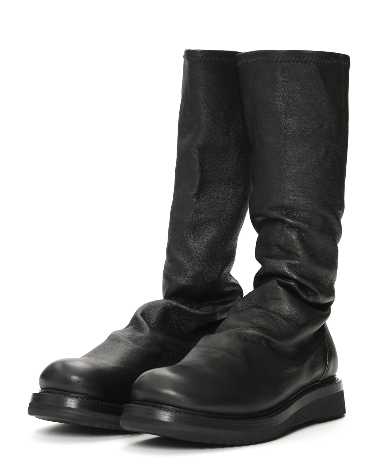 Sisyphus Leather Sock Boots