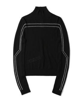 Stripe detail turtle neck sweater