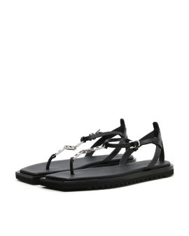 New Chain leather sandals