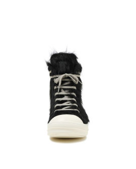 Fur detail high top sneakers