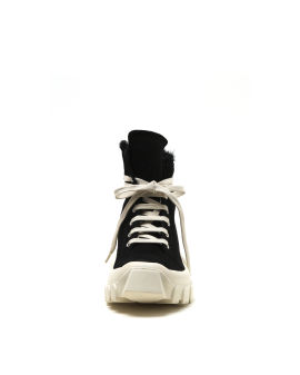 Shearling high top sneakers