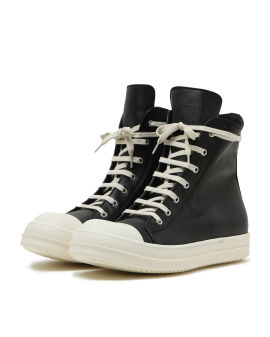 High top leather sneakers